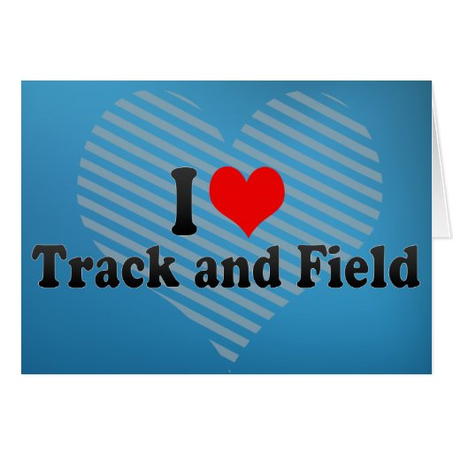 I Love Track and Field Cards