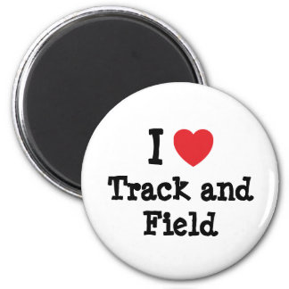 I love Track and Field heart custom personalized Refrigerator Magnets