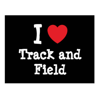 I love Track and Field heart custom personalized Postcard