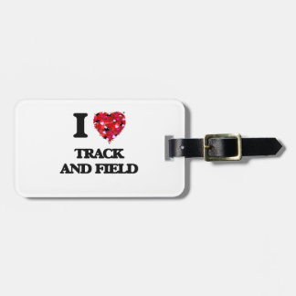 I love Track And Field Tag For Luggage