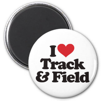 I Love Track and Field Magnets