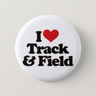 I Love Track and Field Pinback Button