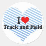 I Love Track and Field Sticker