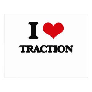 I love Traction Postcard