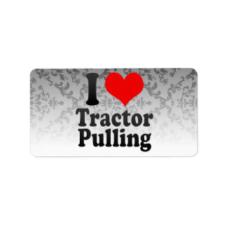 I love Tractor Pulling Custom Address Label
