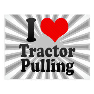 I love Tractor Pulling Postcards