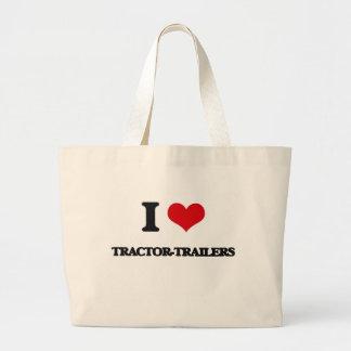 I love Tractor-Trailers Jumbo Tote Bag