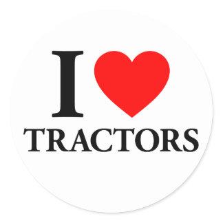 I Love Tractors Classic Round Sticker