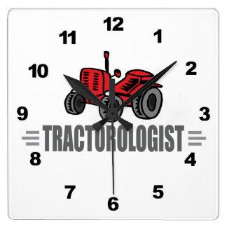 I Love Tractors Square Wall Clock