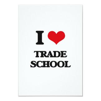 I love Trade School 3.5x5 Paper Invitation Card