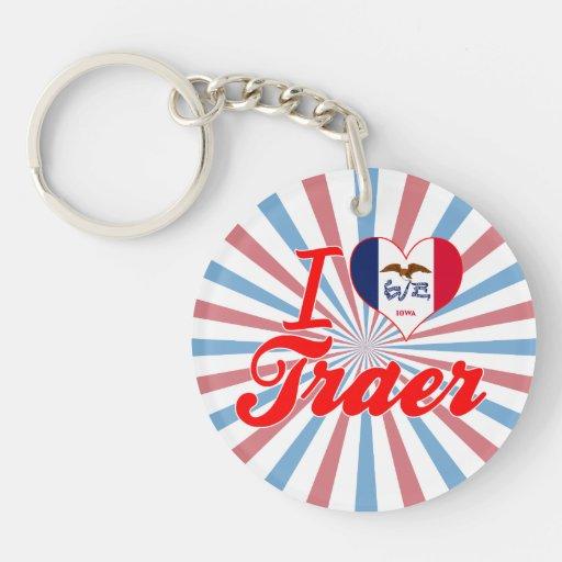 I Love Traer, Iowa Keychain