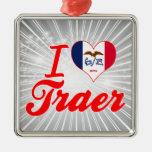 I Love Traer, Iowa Ornament