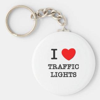 I Love Traffic Lights Key Chain