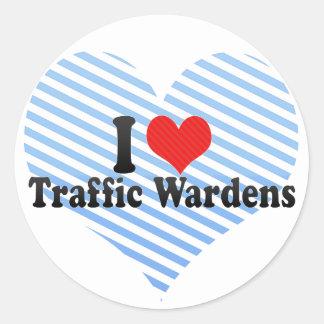 I Love Traffic Wardens Classic Round Sticker