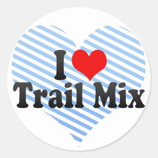 I Love Trail Mix Classic Round Sticker
