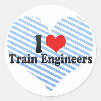 I Love Train Engineers Sticker