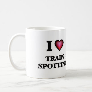 I Love Train Spotting Coffee Mug