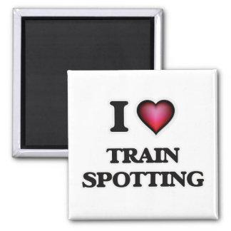 I Love Train Spotting Magnet