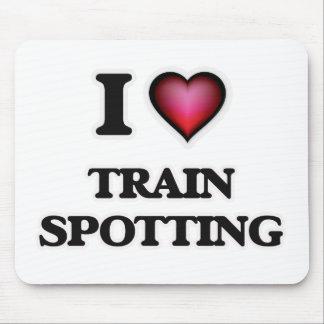 I Love Train Spotting Mouse Pad