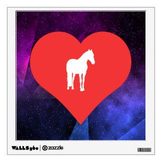I Love Training Horses Cool Symbol Wall Decal