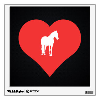 I Love Training Horses Cool Symbol Wall Decals