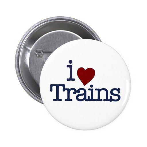 I Love Trains 2 Inch Round Button