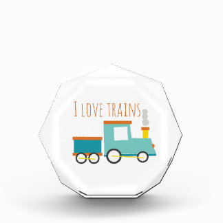 I Love Trains Acrylic Award
