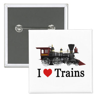 I Love Trains Pins