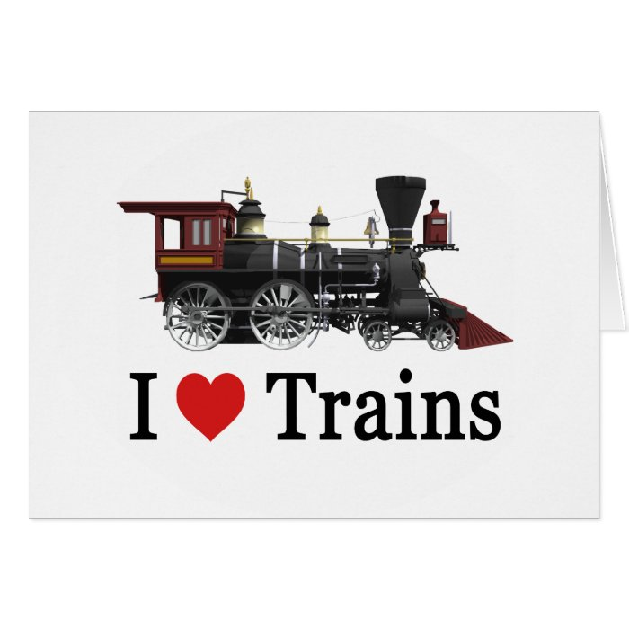 I Love Trains Card