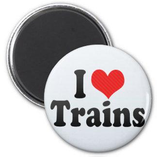 I Love Trains Fridge Magnets
