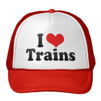 I Love Trains Hat