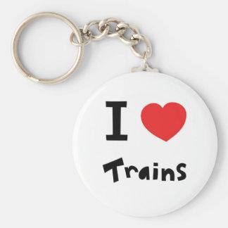 I love trains keychain