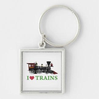 I Love Trains Key Chains