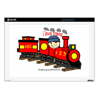 I LOVE TRAINS - LOVE TO BE ME.png Skin For Laptop
