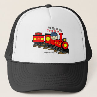 I LOVE TRAINS - LOVE TO BE ME.png Trucker Hat