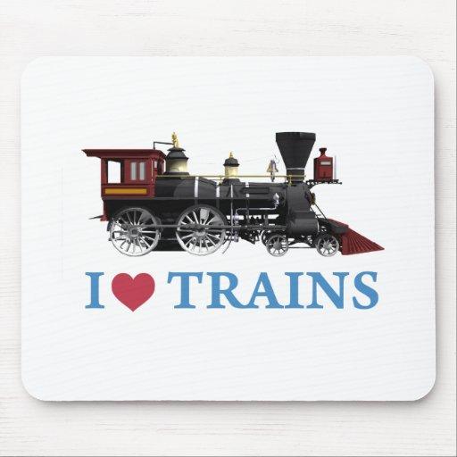I Love Trains Mouse Pad