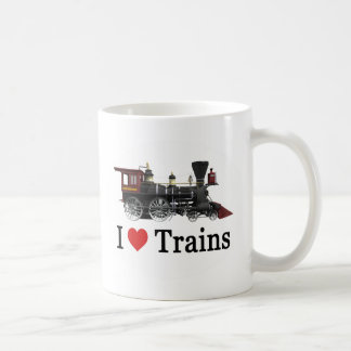 I Love Trains Coffee Mugs