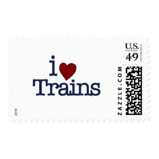 I Love Trains Postage