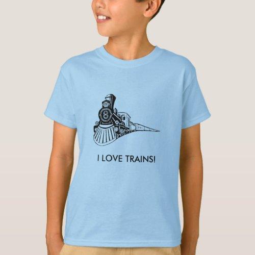 I LOVE TRAINS T_Shirt