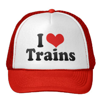 I Love Trains Trucker Hat