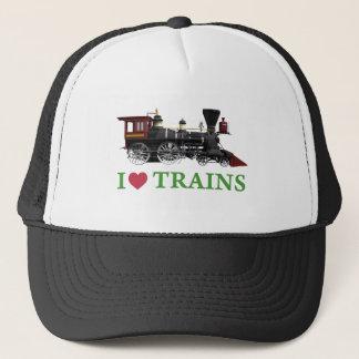 I Love Trains Trucker Hat