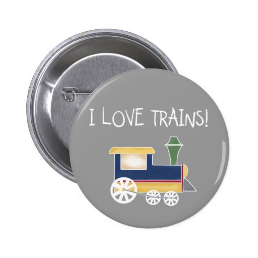 I Love Trains Tshirts and Gifts 2 Inch Round Button