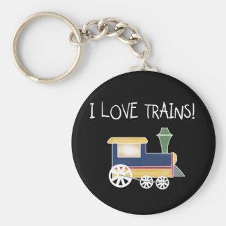 I Love Trains Tshirts and Gifts Key Chains