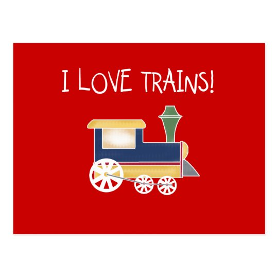 I Love Trains Tshirts and Gifts Postcard