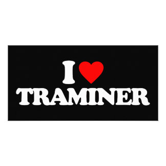 I LOVE TRAMINER PERSONALIZED PHOTO CARD
