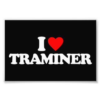 I LOVE TRAMINER PHOTO PRINT