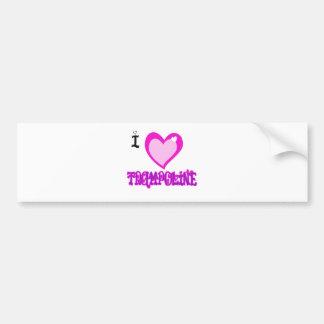 I LOVE Trampoline Bumper Sticker