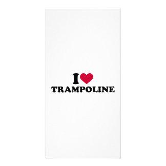 I love trampoline card