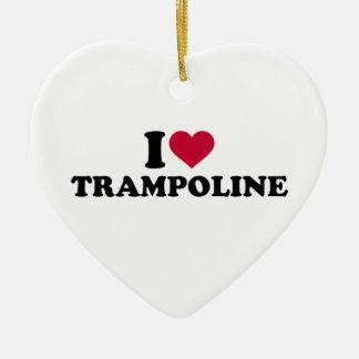 I love trampoline ceramic ornament
