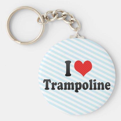I Love Trampoline Key Chain